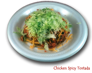 Tostada - Chicken Spicy